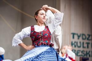 Zespół Regionalny Grojcowianie z Wieprza podczas 49.FFGP w Żywcu. TKB 2018, Foto: Waldemar Kompała/kocurzonka.pl (Plik .JPG)